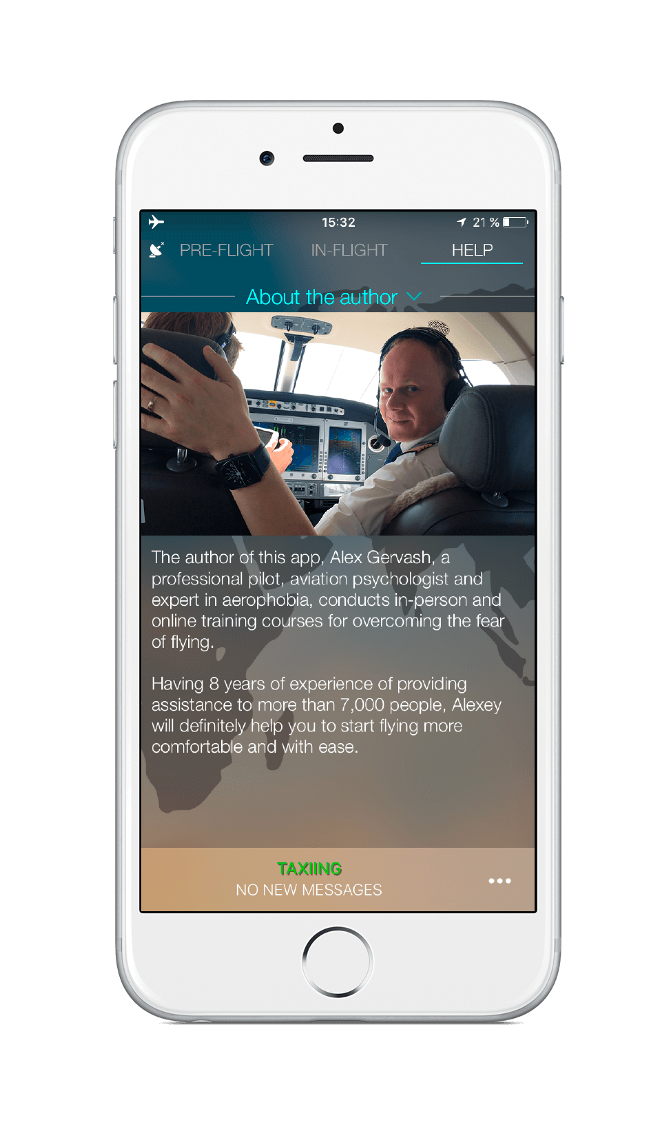 A pilot with 22 years of experience created an app to help